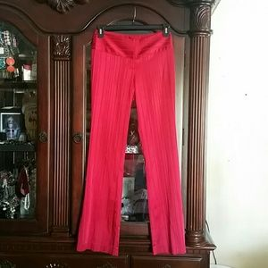 Cache Red Satin Pants